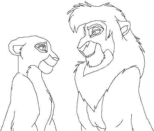 Kovu And Kiara Coloring Pages Coloring Pages