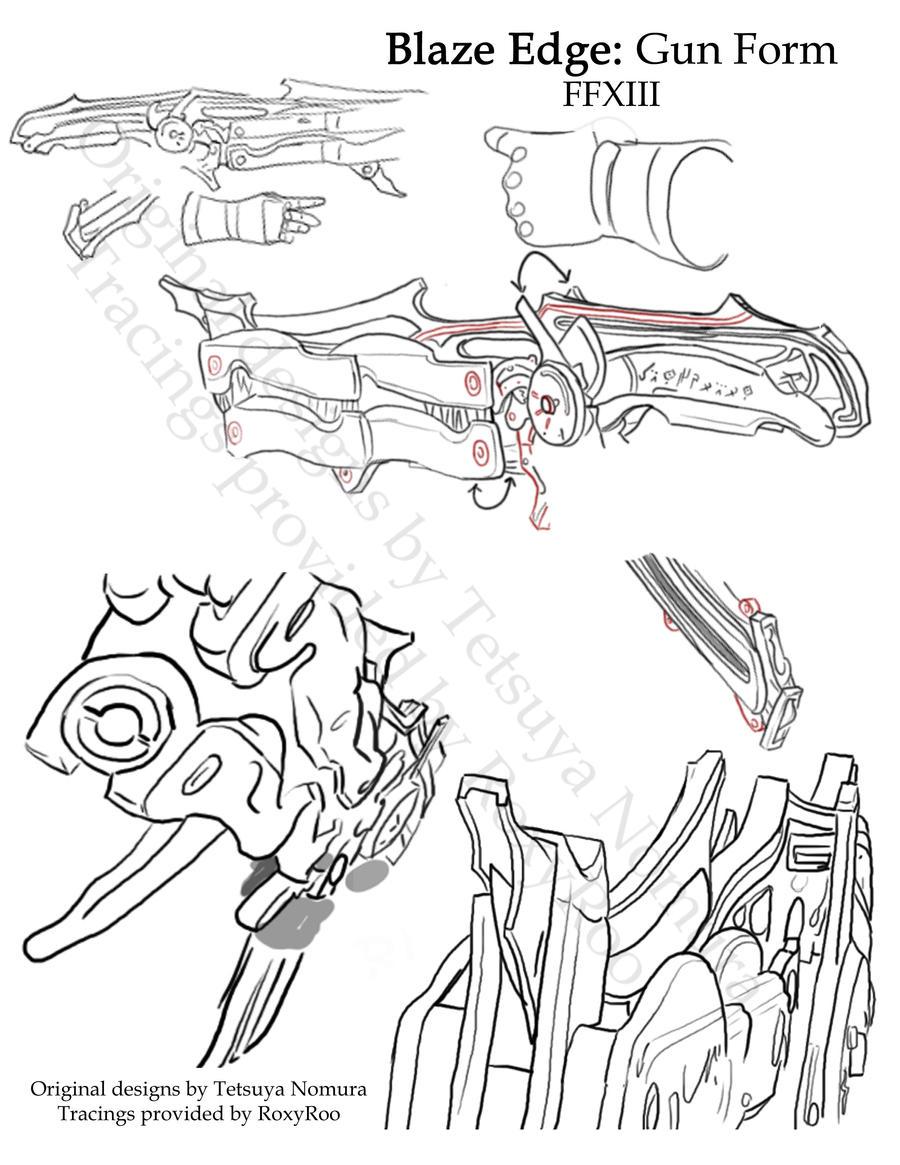 Blaze Edge Trace: Gun by RoxyRoo