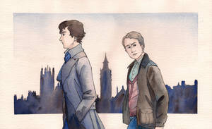 Sherlock and Watson by RoxyRoo