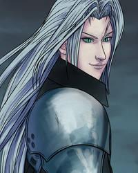 Sephiroth: FFVII 20th Anniversary by RoxyRoo