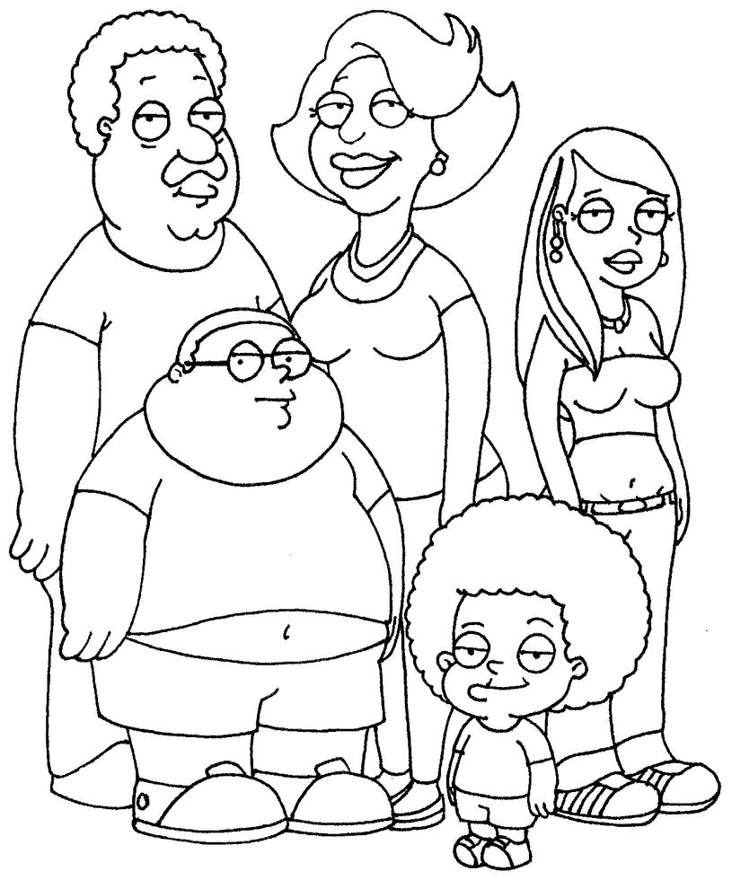 coloring pages cleveland show coloring pages mycoloring free