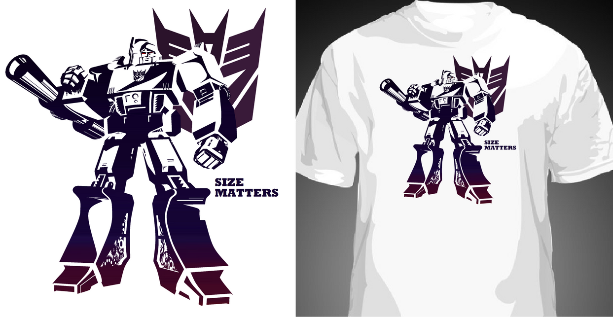 Shirt design wallpaper - G1 Megatron Tshirt Design By Reeves83