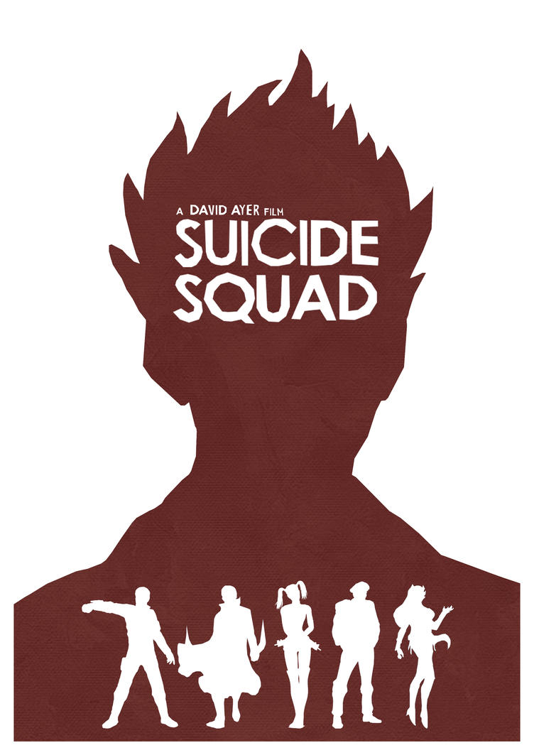 Suicide Squad Minimalist Poster by lewisdowsett