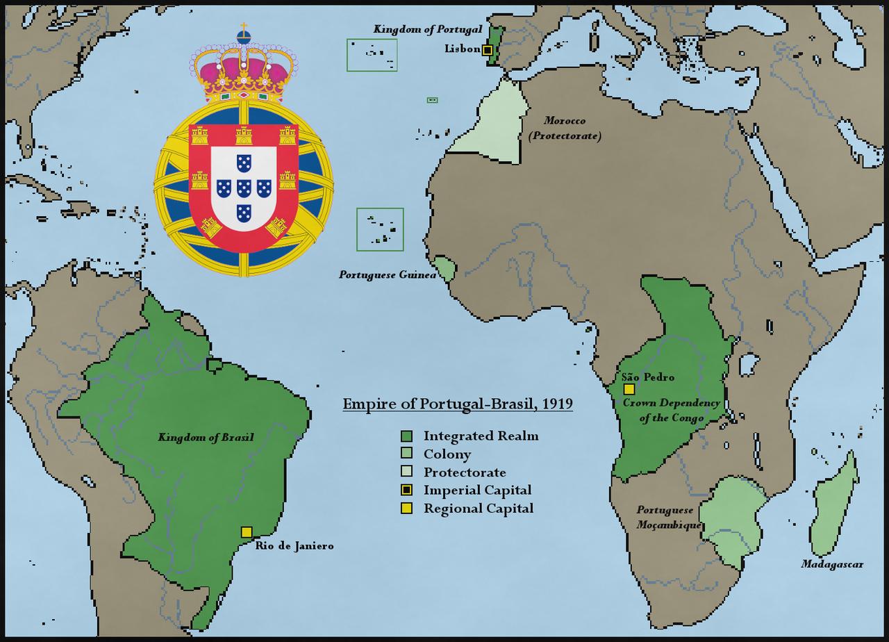 Empire Of PortugalBrasil By Direwolf On DeviantArt - Portugal map history