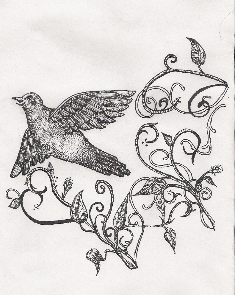 Birds flying away drawing - photo#6