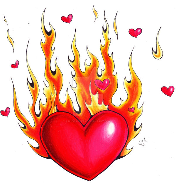 3f36a4e54156 Flaming Heart by iluv2rock99 on DeviantArt