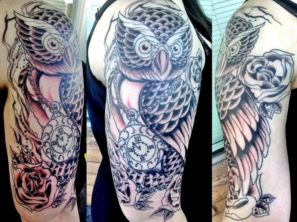 Owl Tattoo Sleeve