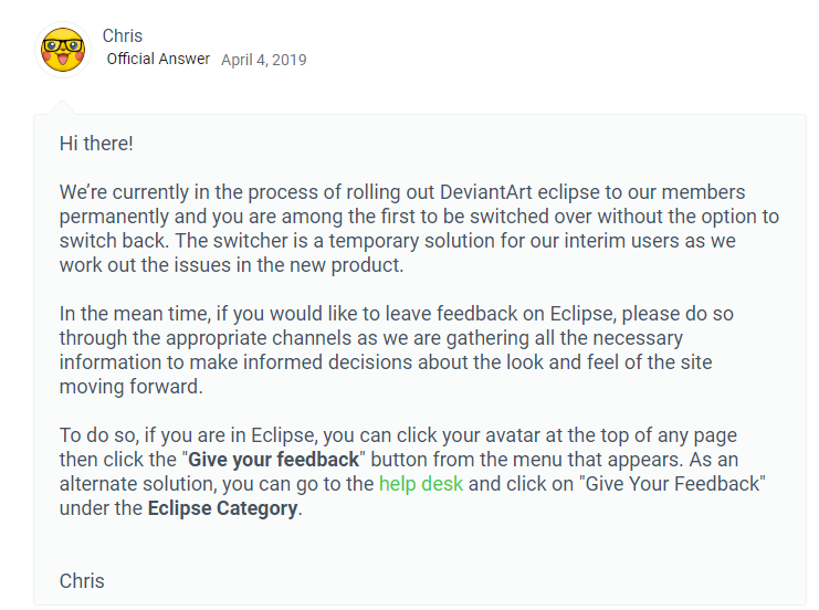Eclipse is now being forced onto some users by Owlzey on