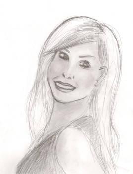 Kristen Bell, pencil