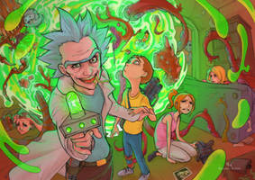 Rick and Morty by EdoardoAudino