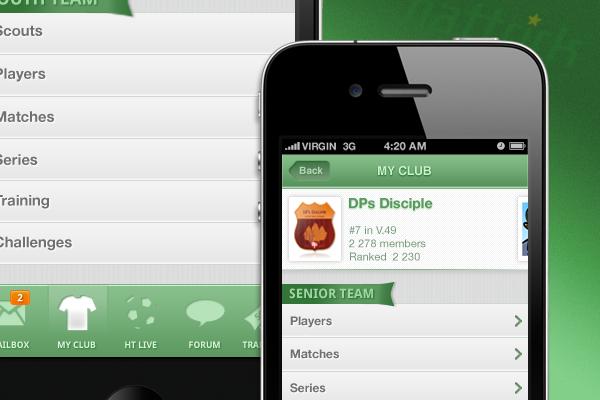 Hattrick App by DelPrado