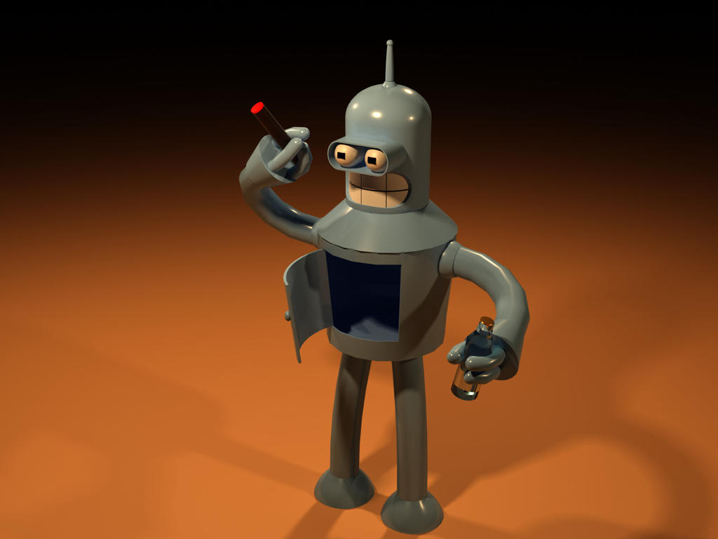My Bender Model. Used 3dsMax. by thediamondsaint