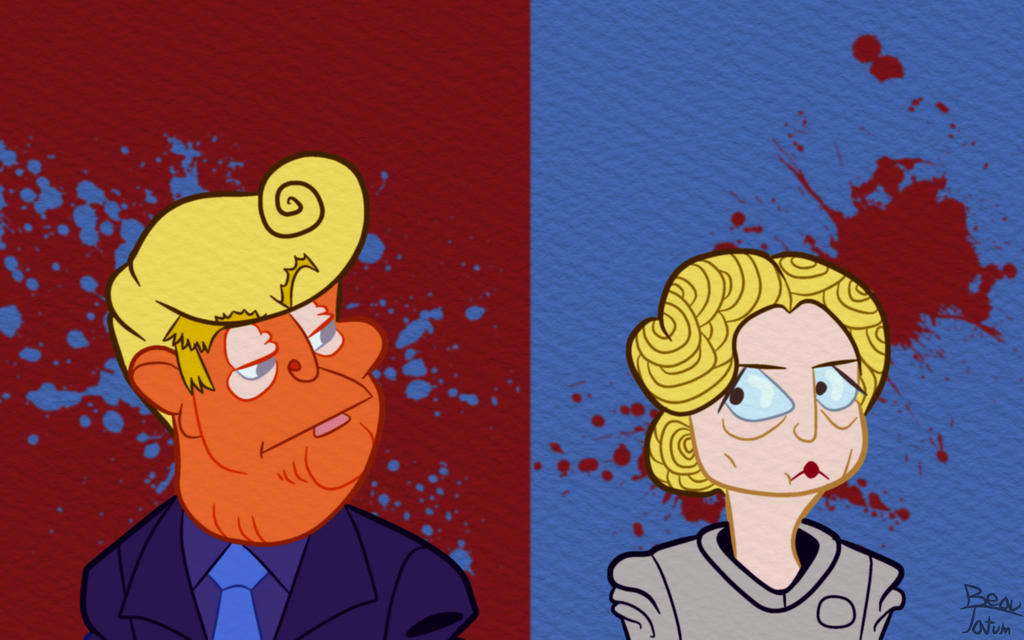 Donald and Hillary by ThirdServant