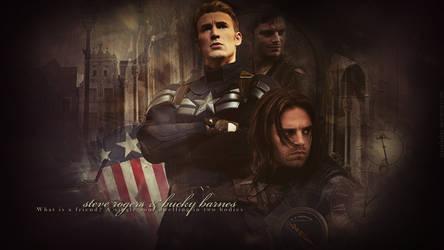 Captain America - Steve Rogers and Bucky Barnes by kienerii