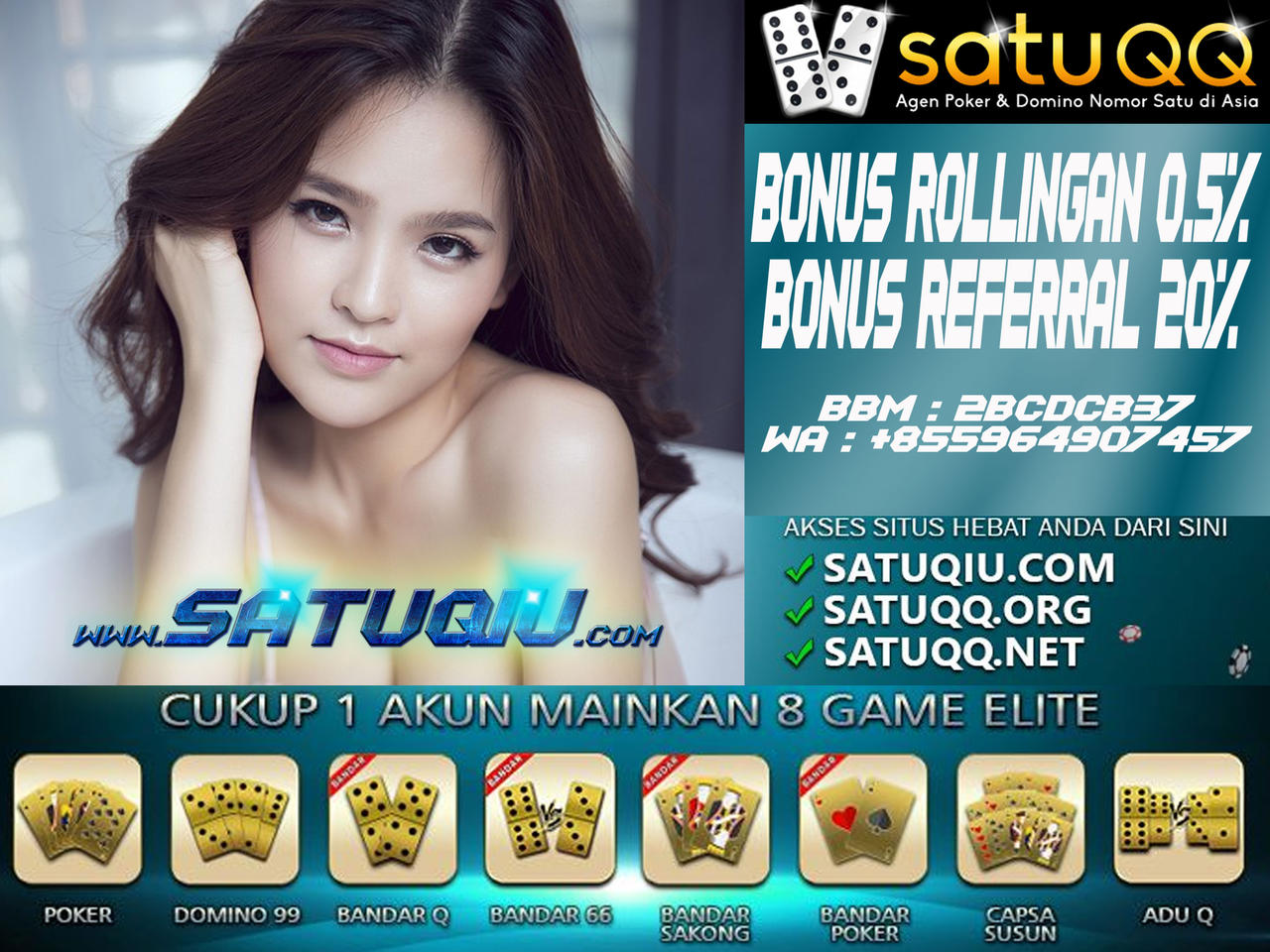 Poker Online Satuqq Agen Terpercaya By Bandarhunter On Deviantart