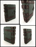 L.A.R.P. leather book. by MilleCuirs
