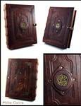 Celtic Triskell Leather Book