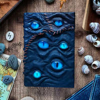Blue patch necronomicon by MilleCuirs