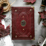 Dark red book of snakes