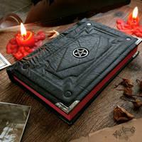 Dark pentacle journal by MilleCuirs