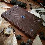 Blue Gems leather journal by MilleCuirs