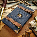 Squid traveller's journal - blue leather