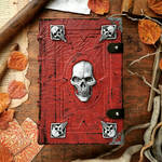 The Necromancer's Grimoire - Red  Silver edition