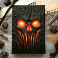 Skull Grimoire with glowing eyes! by MilleCuirs