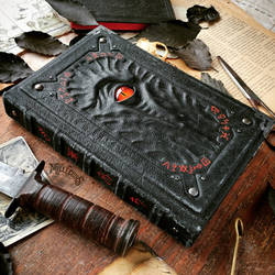 The Alchemist's Black Grimoire - another angle. by MilleCuirs