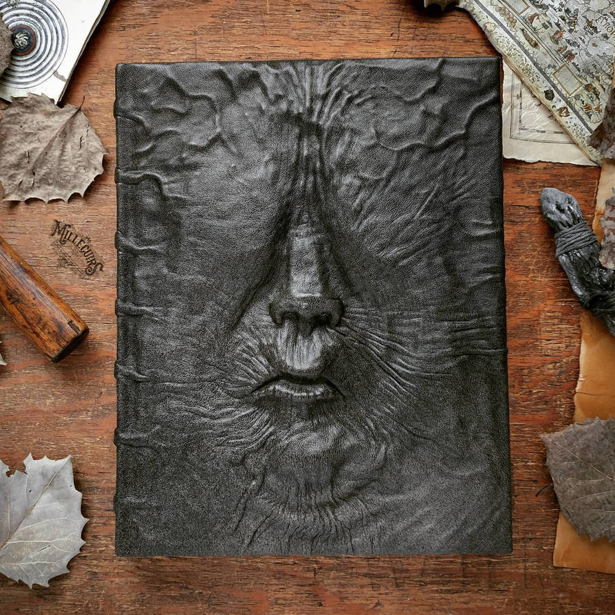 the eyeless - Large size Grimoire by MilleCuirs