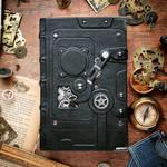 black steampunk book