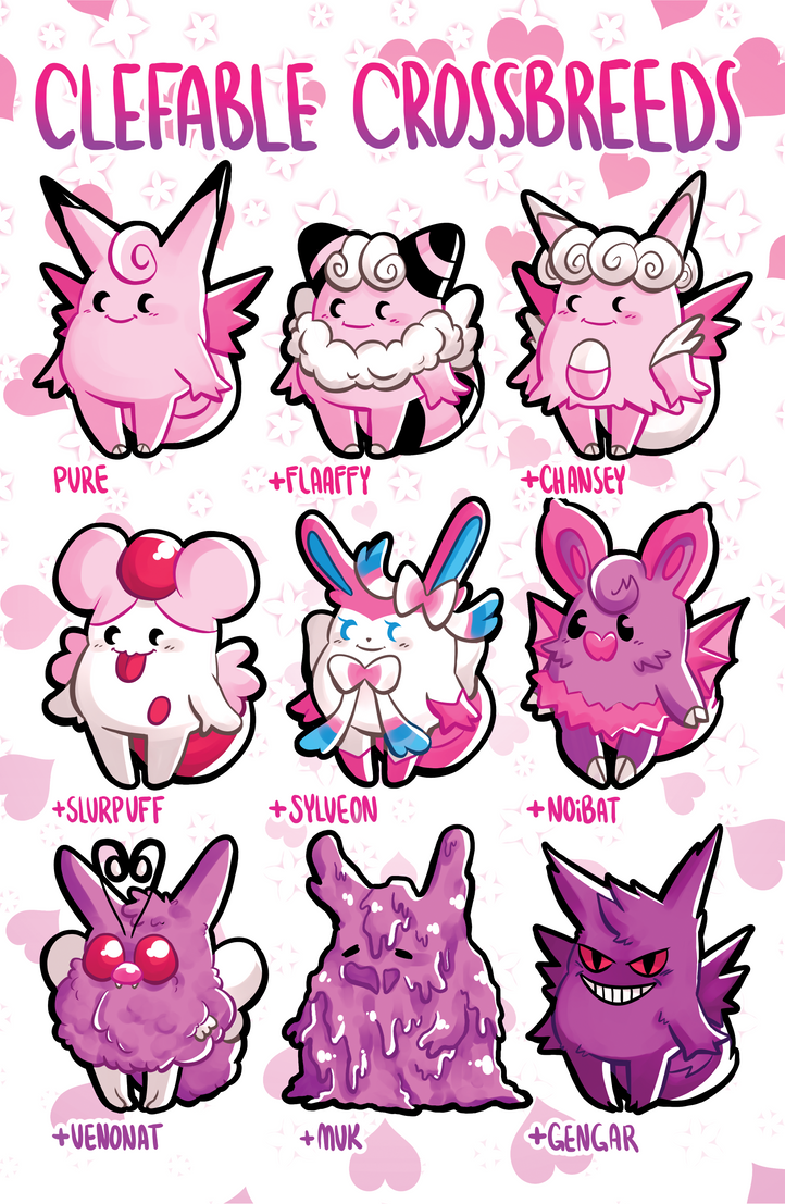 clefable crossbreeds by princesspizza on deviantart