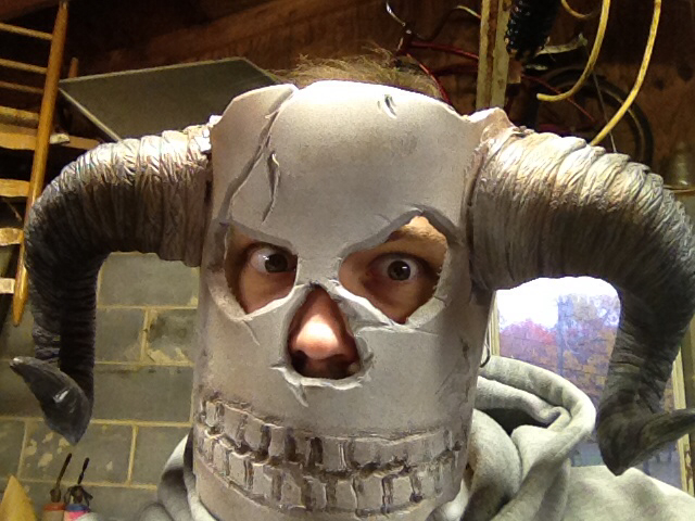 how to make a witch doctor mask