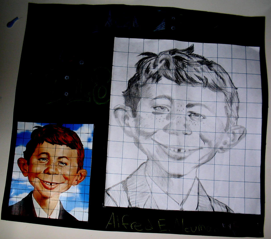 Scale Drawing Alfred E Neuman By Fragrantfeces On Deviantart