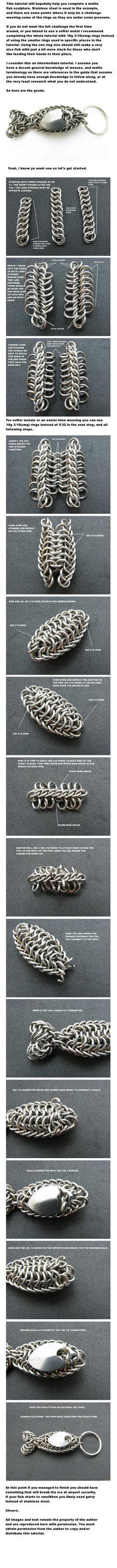 Fish Key Ring Tutorial by BorealisMetalWorks