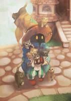 Final Fantasy IX - Vivi (also cats) by junkdoesart