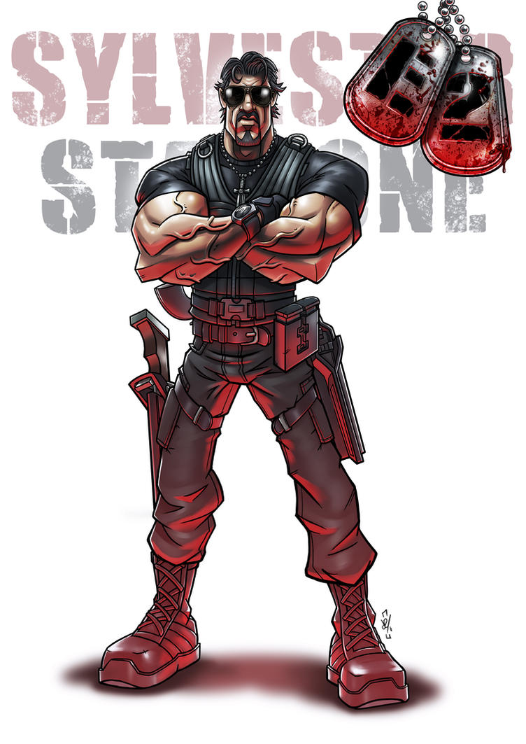 Stallone The Expendables by DazTibbles