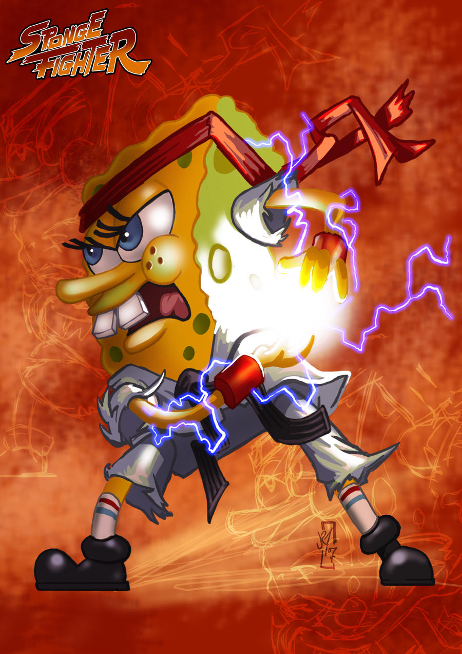 SpongeBob Ryu by DazTibbles