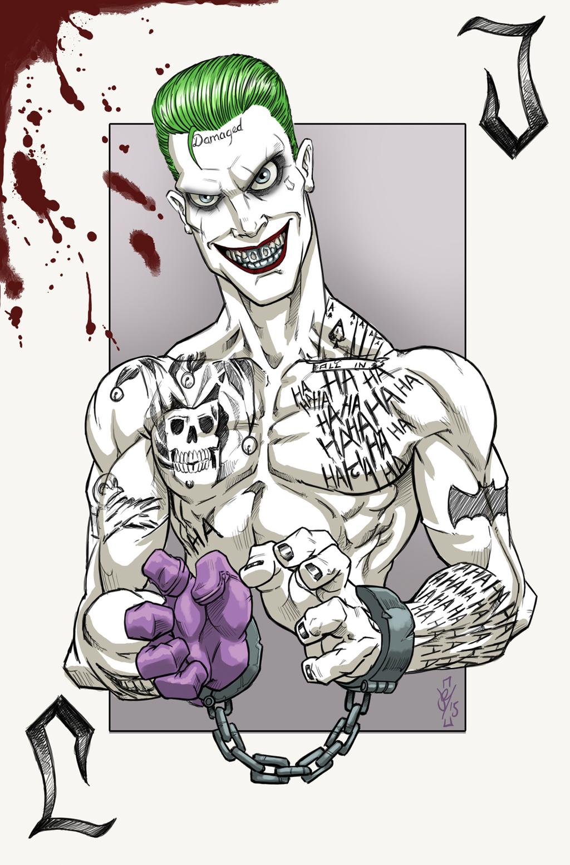 Joker Damaged Tattoo Png: SuicideSquad Joker By Darren Tibbles (DazTibbles) [x-post