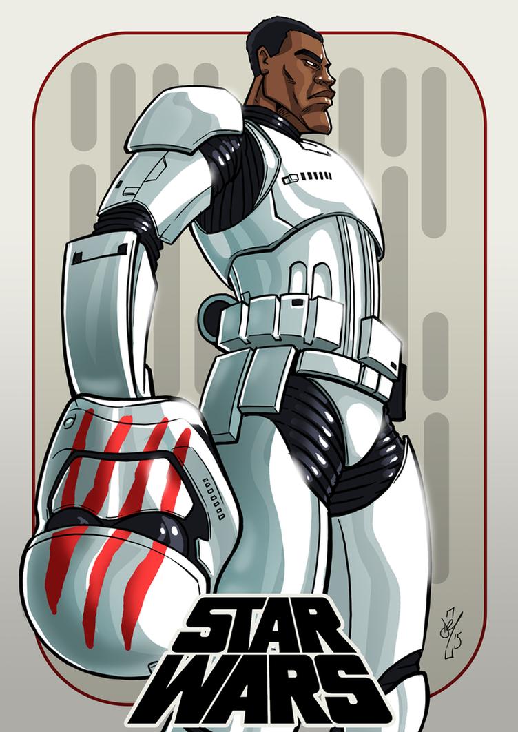 Finn Stormtrooper Sketch by DazTibbles