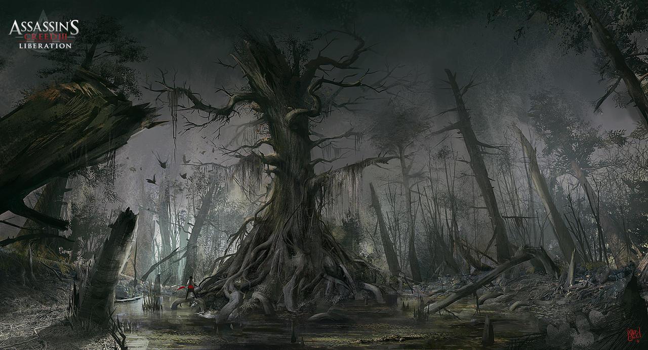 Assassin's Creed 3 : Liberation. Old tree by nachoyague
