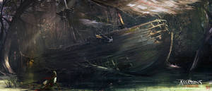 Assassin's Creed 3 : Liberation . Wrecked Ship