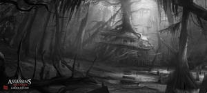 Assassin's Creed III :Liberation . Hut sketch by nachoyague
