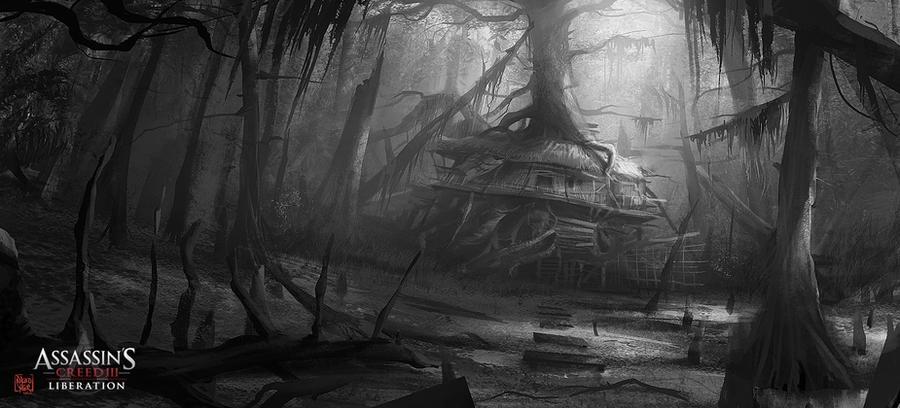 Assassin's Creed III :Liberation . Hut sketch by nachoyague