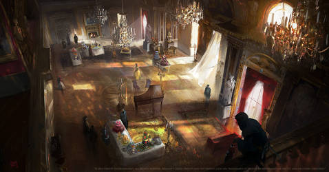 Assassins creed Unity : Luxembourg ballroom by nachoyague