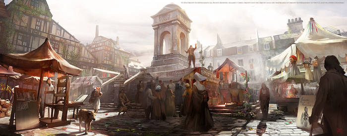 Assassins creed Unity : Quartier Latin market by nachoyague
