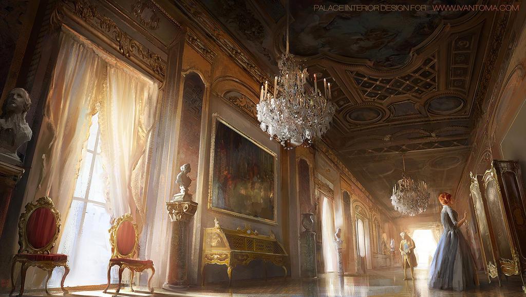 the palace room by nachoyague on deviantart. Black Bedroom Furniture Sets. Home Design Ideas
