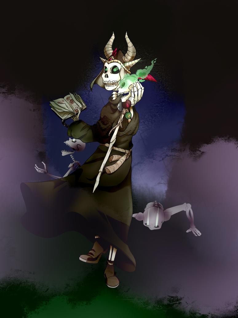 Skeleton Lich - Commission by Moddy-Artz