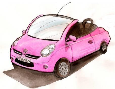 Cute Pink Car