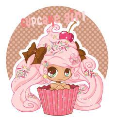 Chibi Cupcake Girl by YamPuff
